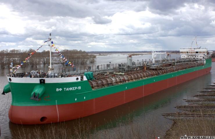 «Окская судоверфь» спустила на воду танкер проекта RST27 8 июня