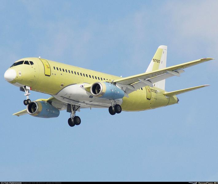 106-ый серийный борт Сухой Суперджет 100 совершил первый полёт в Комсомольске-на-Амуре