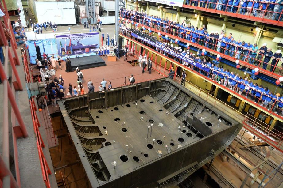 На Амурском судостроительном заводе заложили корвет «Резкий»