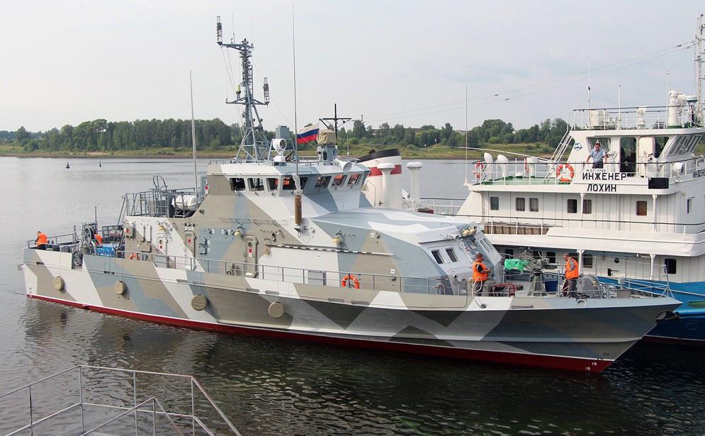 На «ССЗ «Вымпел» спустили на воду противодиверсионный катер «Грачонок»