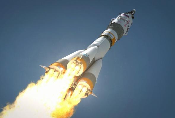 """Грузовой космический корабль """"Прогресс МС-03"""" стартовал к Международной космической станции с космодрома Байконур"""