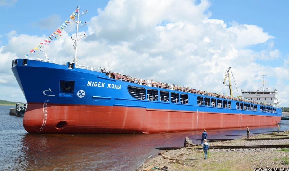 «Невский судостроительный завод» спустил на воду сухогрузное судно для Казахстана