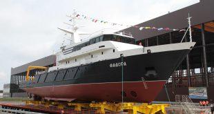 В Ленинградской области спустили на воду опытое исследовательское судно Ладога