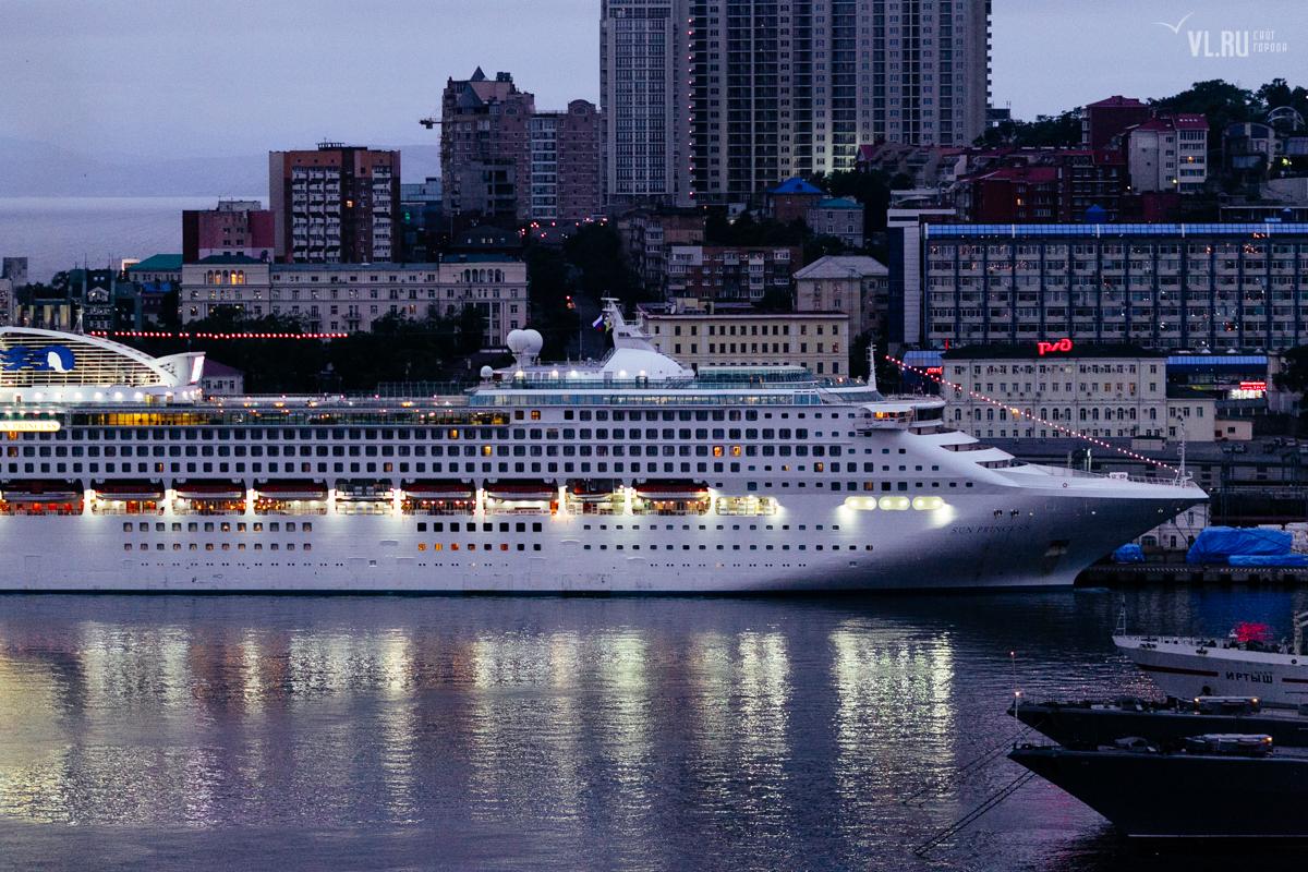 Во Владивосток впервые зашел круизный лайнер Sun Princess