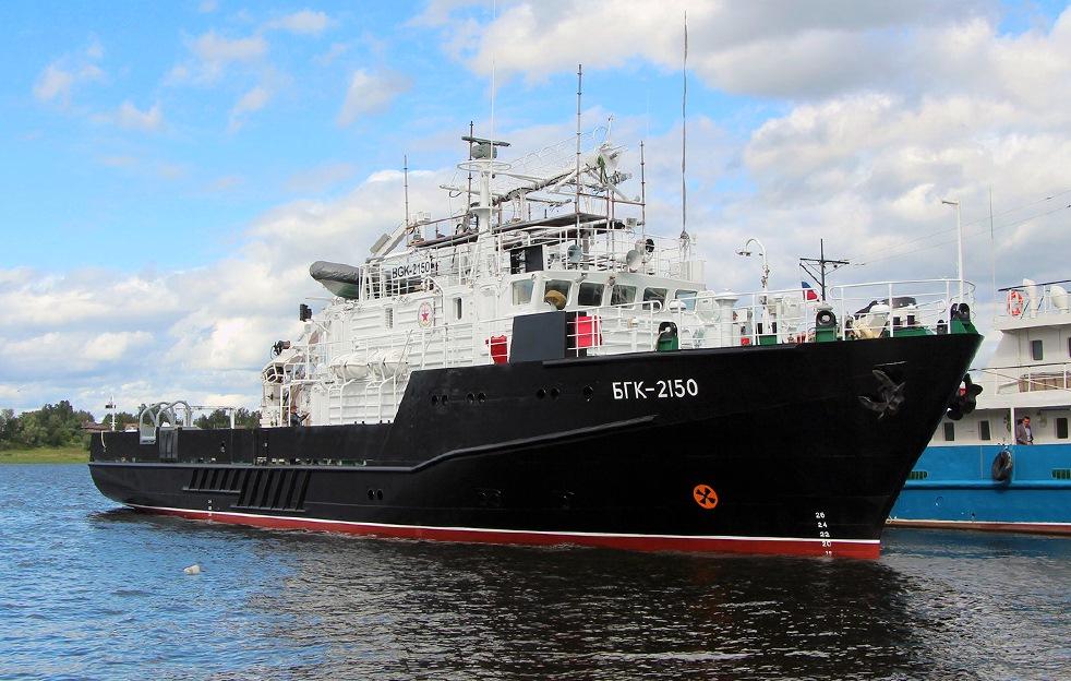 В Рыбинске состоялся спуск на воду большого гидрографического катера для ВМФ России