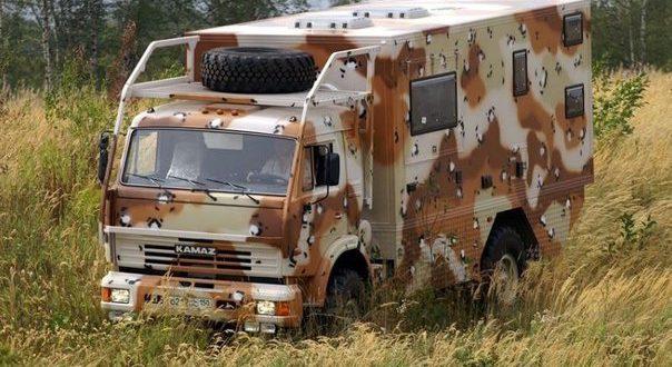 Внедорожный автодом на базе КАМАЗа 4326
