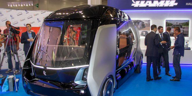 КАМАЗ и НАМИ показали беспилотный автомобиль под названием Шатл