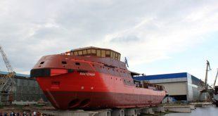 Невский судостроительный завод спустил головное многофункциональное спасательное судно-буксир арктического плавания проекта MPSV12