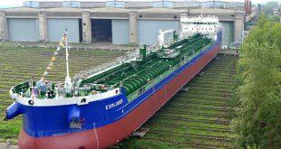 Нижегородский завод «Красное Сормово» спустил на воду свой двадцатый «сверхполный» танкер — продуктовоз