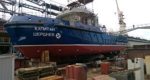 Новый лоцмейстерский катер спустили на воду в Санкт-Петербурге