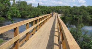 В Киржаче Владимирской области открыли самый длинный в России деревянный мост