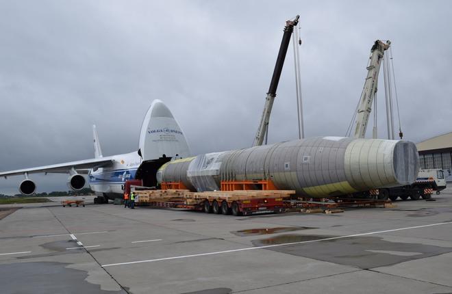 В ЦАГИ доставили фюзеляж самолета МС-21-300 для проведения статических испытаний4