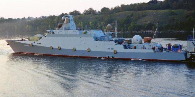 В Татарстане спустили на воду новый малый ракетный корабль «Вышний Волочек» с «Калибрами»
