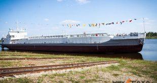 В Якутии спустили на воду модернизированный танкер