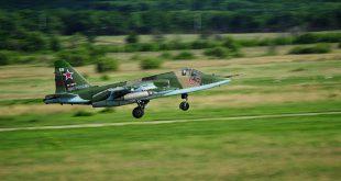 Видео полетов Су-25СМ Южного военного округа с грунтового аэродрома