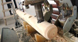 Производство оцилиндрованных изделий из тонкомерной древесины запустили в Алтайском крае