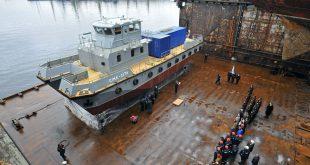 В Мурманске на воду спущен поисково-спасательный катер нового поколения