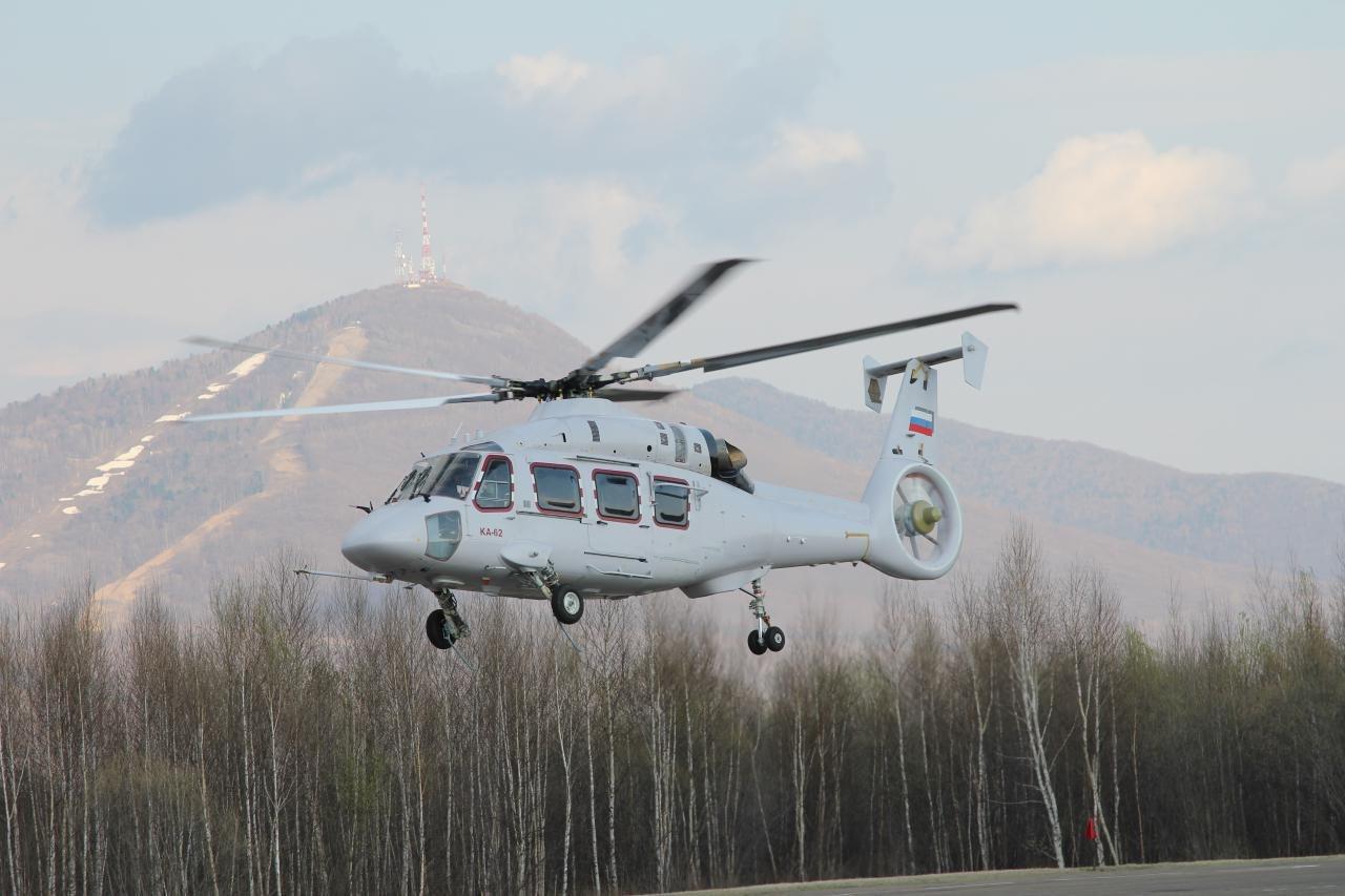 «Вертолеты России» представили первый летный прототип вертолета Ка-62