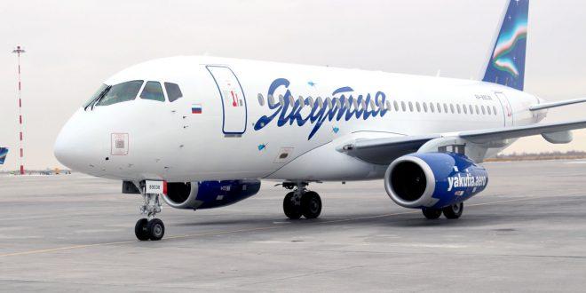 Авиакомпания «Якутия» получила новый Сухой Суперджет 100