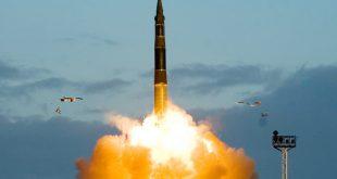Межконтинентальная баллистическая ракета «Тополь» успешно отстрелялась по учебному полигону