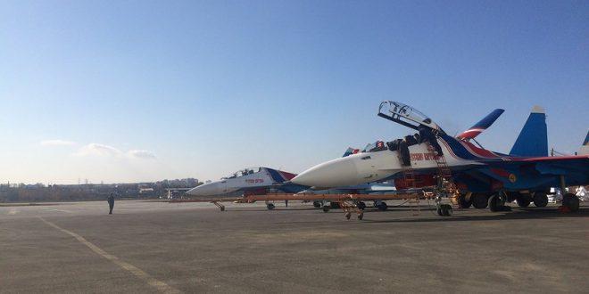 Русские Витязи получила еще четыре новых истребителя Су-30СМ