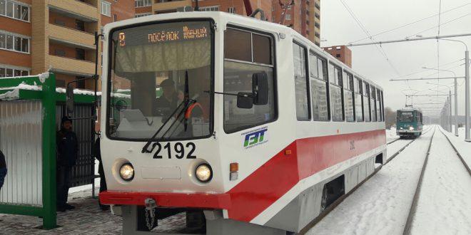 В Новосибирске открыли новую трамвайную линию