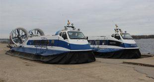 В Самару поставили два новых судна на воздушной подушке для зимней навигации