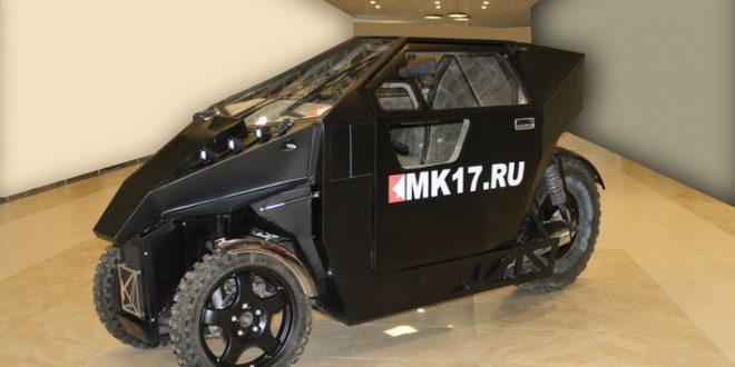 Всепогодный гибрид мотоцикла и автомобиля для передвижения в пробках - MK-17