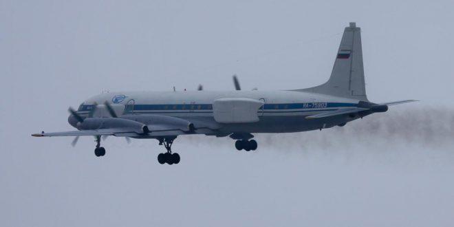Заводом имени Мясищева на базе самолета Ил-18 создан самолет постановщик помех и попутной разведки Ил-22ПП «Порубщик»