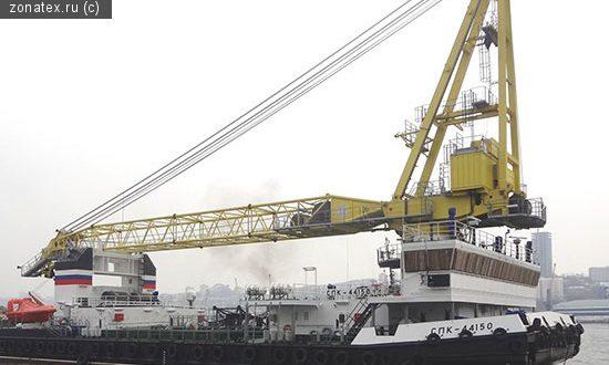 Самоходный плавучий кран «СПК-44150» поступил на Тихоокеанский флот