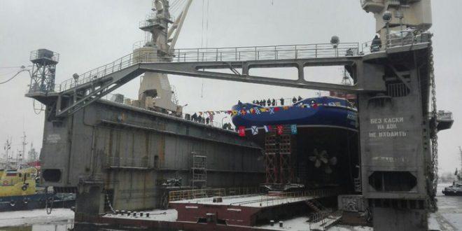Северная верфь спустила на воду судно тылового обеспечения «Всеволод Бобров»
