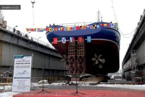 Северная верфь спустила на воду судно тылового обеспечения «Всеволод Бобров»1