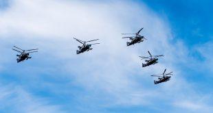 В вертолетный полк ЮВО получил 3 новых ударных вертолета Ка-52 «Аллигатор»