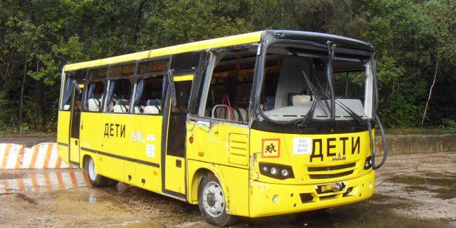 Новый школьный автобус выдержал краш-тест